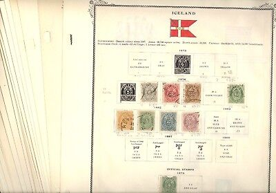 ICELAND, Excellent Stamp Collection hinged on remainder Scott Specialty pages