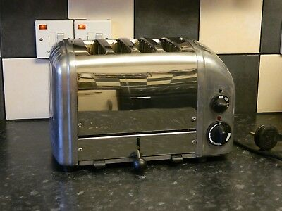 dualit 4 slice toaster with stainless steel/ chrome finish