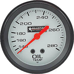 ALL80097 Oil Temperature Gauge, 140-340 Degree F, Mechanical, Analog, 2-5/8