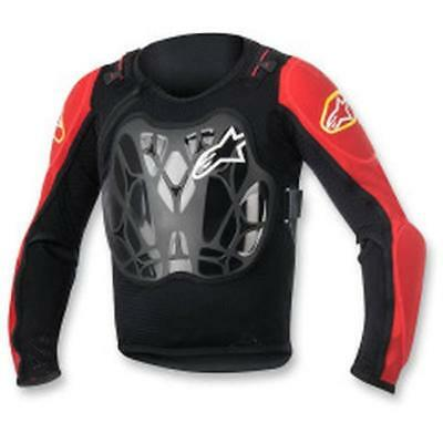ALPINESTARS Bionic Pro Kinder Safety Jacket 2019 schwarz rot Motocross Enduro MX