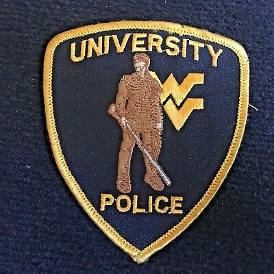University Of West Virginia Police Department Patch - WV Mountaineer Mascot