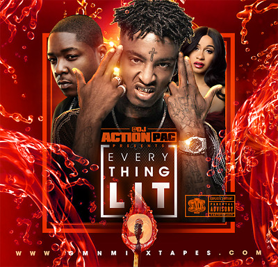 DJ Action Pac Everything LIT v 9  (Mixtape) CD Hip Hop R&B 2018
