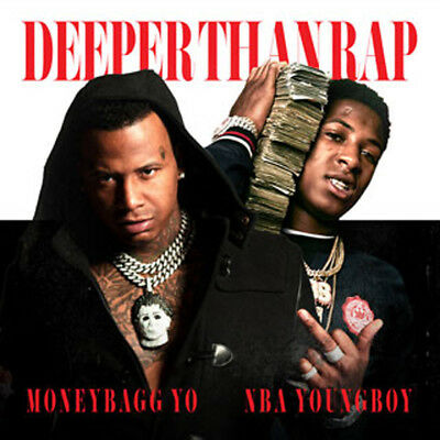 MONEYBAGG YO NBA YOUNGBOY DEEPER THAN RAP Artwork CD Mixtape Album PA Hip Hop