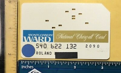 Vintage Montgomery Ward Credit Card (1960's) Unsigned