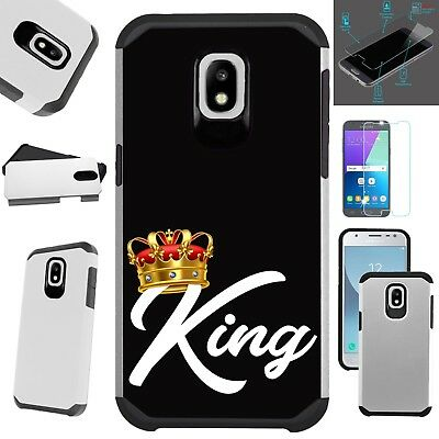 FusionGuard For Samsung Phone Case+TEMPERED GLASS Hybrid Cover KING CROWN