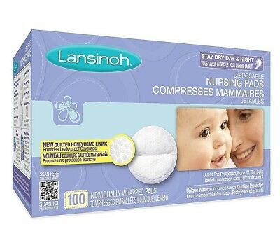 Lansinoh Disposable Nursing Pads 100 Ct Breastfeeding Breast Care Baby-New