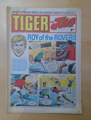 TIGER and JAG Comic 30th August 1969 - Roy of the Rovers- vg+ condition