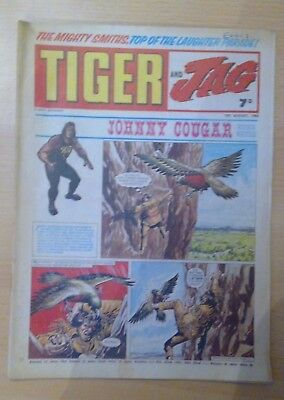TIGER and JAG Comic 16th August 1969 - Johnny Cougar- vg+ condition