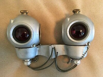 Vintage Pair of Like New Reading RDG Pyle Electric Caboose Marker Lights C&O WM