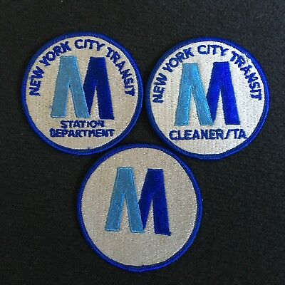 New York City Transit Department M Station Patches NYC Subways and Buses MTA