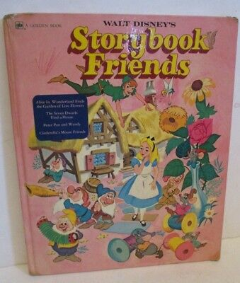 Walt Disney Storybook Friends Vintage Hardcover Book 1976 Golden Press