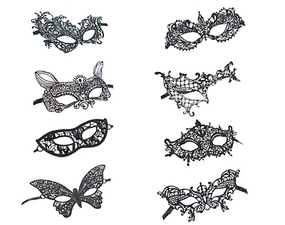 Lady Lace Mask Sexy Black Woman Lace Eye Mask For Any Occasions Party Valentine