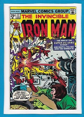 Invincible Iron Man #77_August 1975_F/vf_Mad Thinker_Yellow Claw_Firebrand!