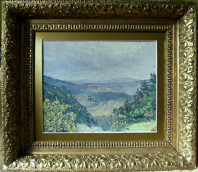 Oil on Board Impressionist Landscape Early 20th Century American Framed