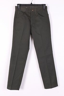 VTG 60 LEE LEENS GREEN COTTON TAPPERED PANTS USA WOMENS SIZE 26x27