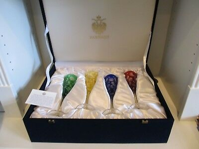 4 Faberge Imperial Collection Bubbles Champagne Flutes NIB