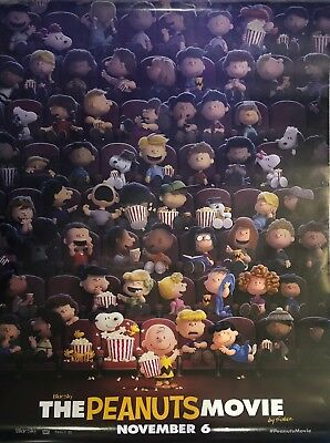 """Peanuts Movie - Movie Poster 27"""" by 40"""" - Used - Good Condition"""
