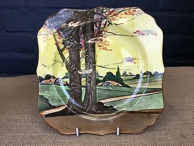 """Stunning Hand Painted Art Deco Royal Doulton """"woodland Series"""" Plate-1926"""