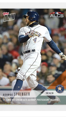 2018 Topps Now Alcs Card Game #2 Astros George Springer #886 11 Game Hit Streak