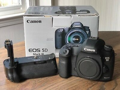 Canon EOS 5D Mark III 22.3MP Digital SLR Camera with BG-E11 Battery Grip