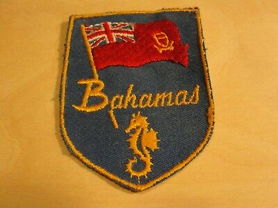 Bahamas Embroidered Patch Souvenirs And Travel Memorabilia Vintage