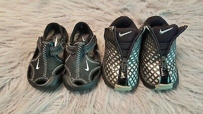 Nike 3C Baby Boy Black and White Tennis Shoe and Sandal Lot of 2 SUPER CUTE