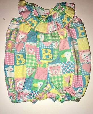 0bfb38adc4a TRUE VINTAGE BABY Girls Pastel Ruffle Bubble Romper Sunsuit 3 Months