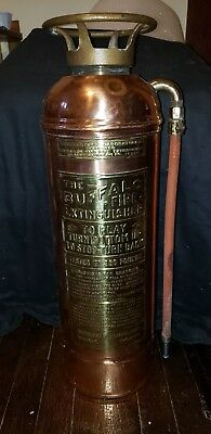 Vintage Copper Antique Fire Extinguisher Buffalo  Buffalo Fire Appliance Ny