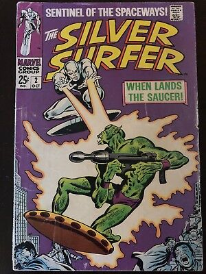 The Silver Surfer #2 (Oct 1968, Marvel) Sentinel of the Spaceways! Good Copy.