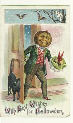 With Best Wishes for halloween postcard