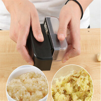 Black Plastic Garlic Press Stainless Steel Ginger Grinder Cooking Home Gadgets D