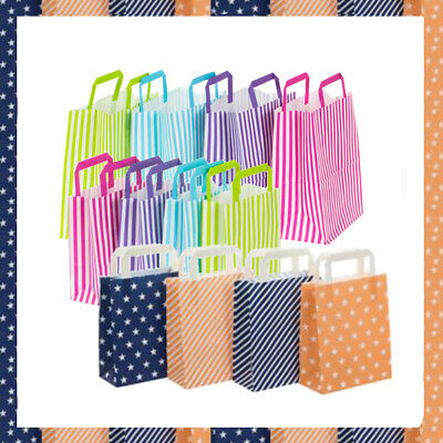 Striped candy paper bag party gift wedding hen night bag with handles