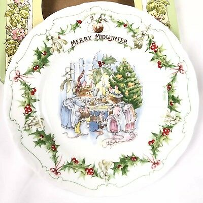 Royal Doulton Brambly Hedge Merry Midwinter 6 Inch Plate w/Box 1994
