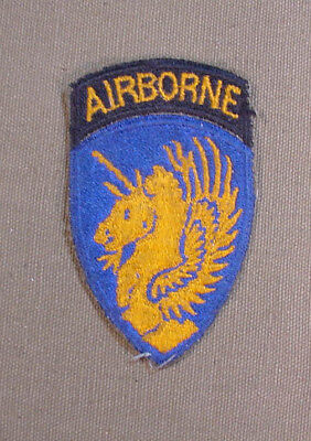 Original Wwii Us Army 13Th Airborne Patch With Attached Tab