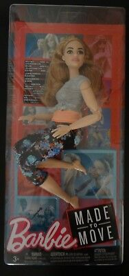 *NEW HTF* Curvy Barbie Made to Move Doll Yoga Articulated Posable Doll floral
