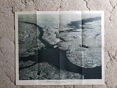 Aerial Photo NATIONAL GEOGRAPHIC Greater New York, Metropolis of Mankind 1939