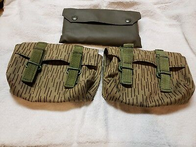 2 East German Sks Stripper Clip Pouchs & Rubberized Pouch