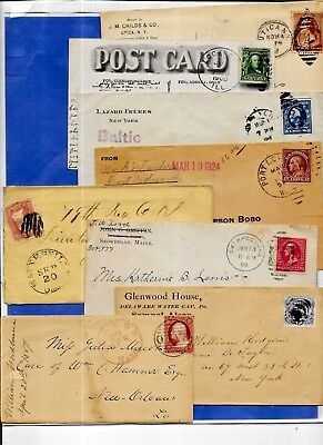 Us Postal History-- Collection Builder Lot Of 8 Covers  (N5783)