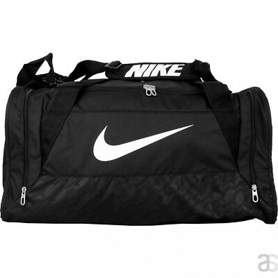 508733e285a Nike Brasilia 6 Medium Duffel Bag Black BA4829 Soccer Baseball Gym Backpack
