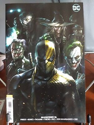 Deathstroke 36 B DC 2018 NM Francesco Mattina Variant Joker Two-Face Batman
