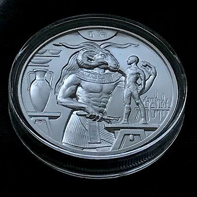 KHNUM 2 oz 999 Silver Egyptian Gods Series High Relief Round Coin Wastweet