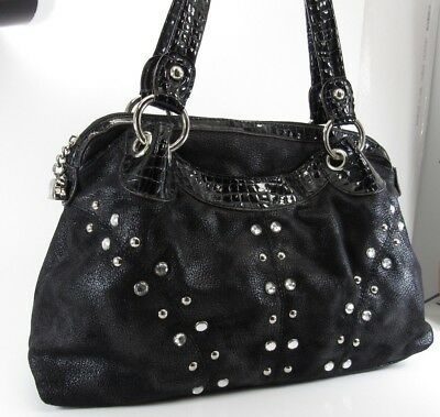 ... Beautiful KATHY VAN ZEELAND handbag BLACK Lots of POCKETS LARGE the  latest 7d1f4 33436 . ... 64b8b6743ced0
