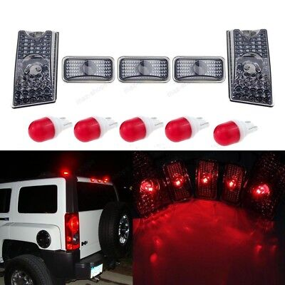 5x 264160BK Smoke Lens Red Rear Roof Clearance Top Marker Light For Hummer H2