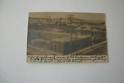 1907 View Of Old Las Vegas, New Mexico Real Photo Post Card