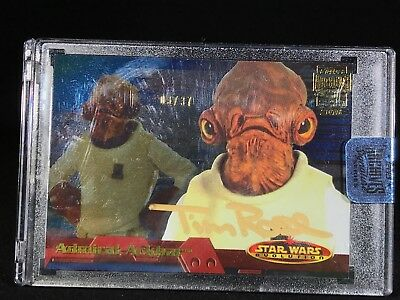 2018 Topps Archives Signature Star Wars Tim Rose as Admiral Ackbar /37 Autograph
