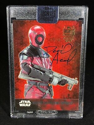 2018 Topps Archives Signature Star Wars David Acord as Riot Trooper /26 AUTO