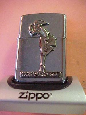 "Two Panel & 3-Dimensional 1993 Zippo Lighter - 1935 Varga Girl ""WINDY"""