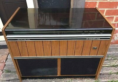 Vintage/Retro 1972 HMV Stowaway TG-4Y Radio and Record Player in Timber Cabinet