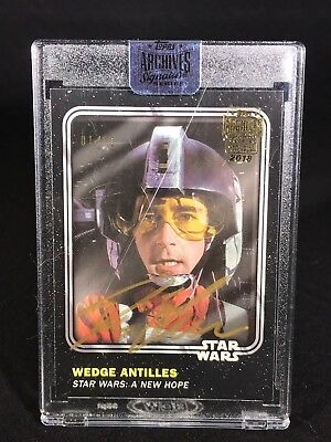 2018 Topps Archives Signature Star Wars Denis Lawson as Wedge Antilles AUTO /11