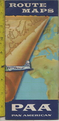 I have a c1940s PAA Pan American Route Maps brochure Boeing Stratacruiser